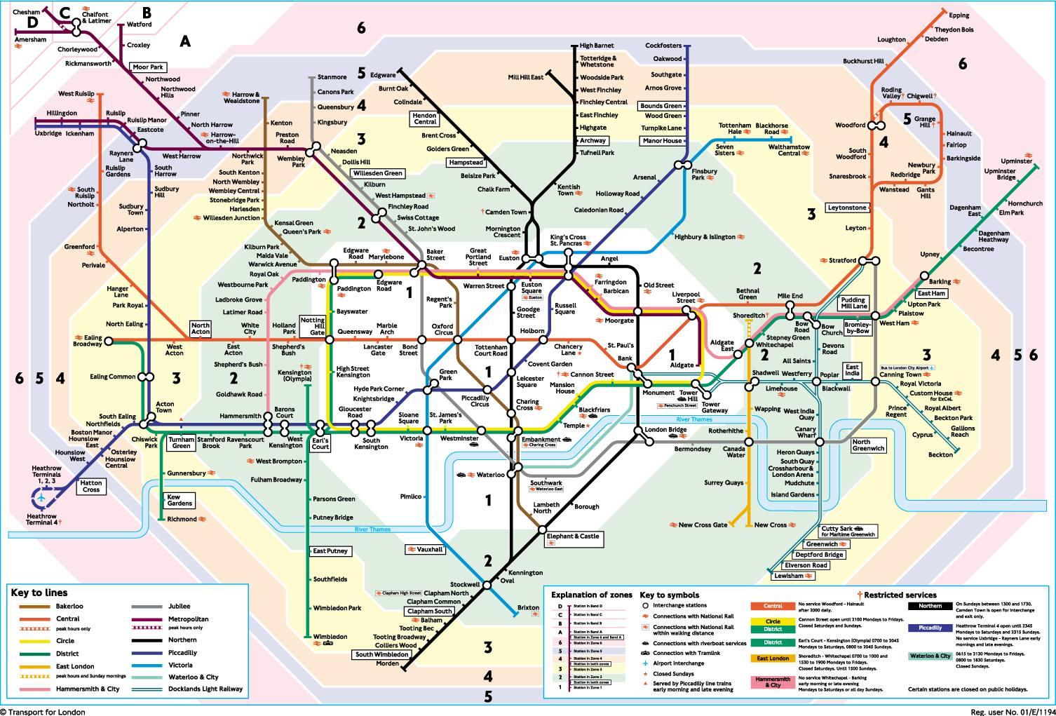 London Travel Card Zones 1 6 Map.Plus London Travel Dla Turystow Indywidualnych I